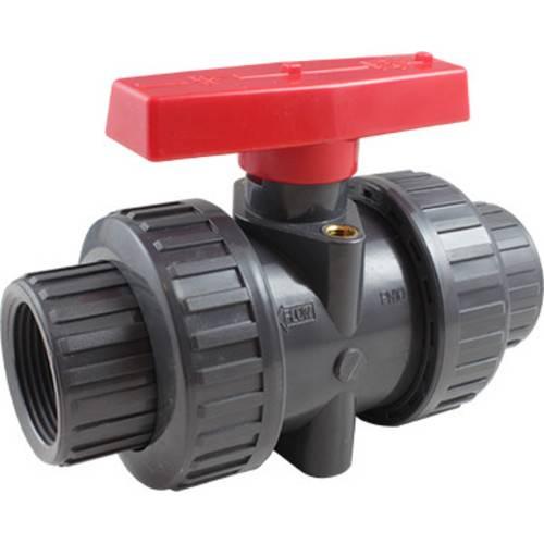 Кран шаровой пластиковый КПР-9 с ручным приводом