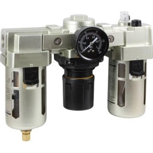 Фильтр-регулятор с маслораспылителем и автоматическим сливом конденсата горизонтальный ФРЛ-Х000А